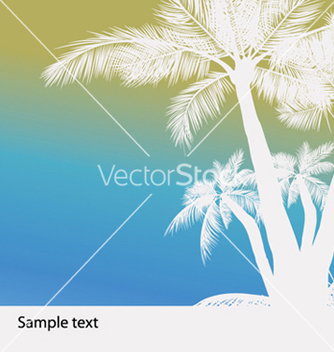 Free vintage summer background with palm trees vector - Free vector #248497