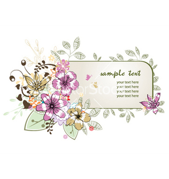 Free floral frame vector - Free vector #248567