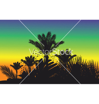 Free summer background with palm trees vector - Free vector #248587