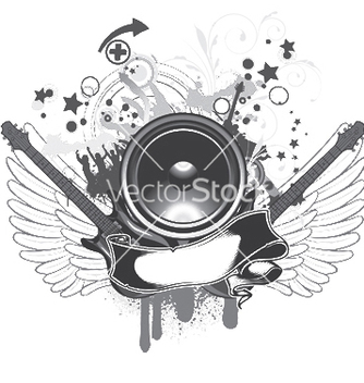 Free music emblem vector - Free vector #248767