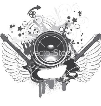 Free music emblem vector - Kostenloses vector #248767
