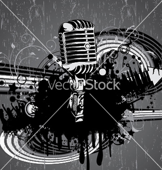 Free concert poster with microphone vector - бесплатный vector #248877