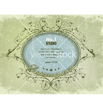 Free elegant label with grunge background vector - Kostenloses vector #248927