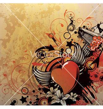 Free grunge background with heart vector - Free vector #249157