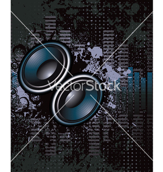 Free concert poster with speakers vector - Kostenloses vector #249307
