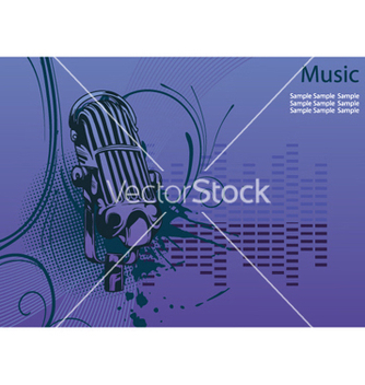 Free concert poster with microphone vector - бесплатный vector #249327