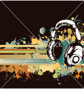 Free headphones with floral vector - Kostenloses vector #249337
