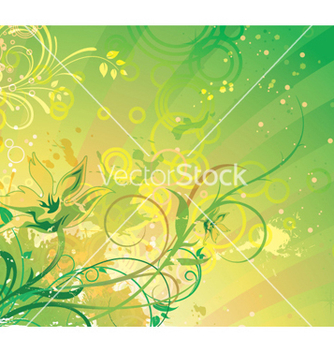 Free fantasy floral background vector - Free vector #250087