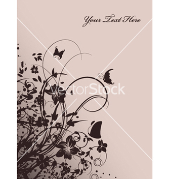 Free vintage background with floral vector - vector #250157 gratis