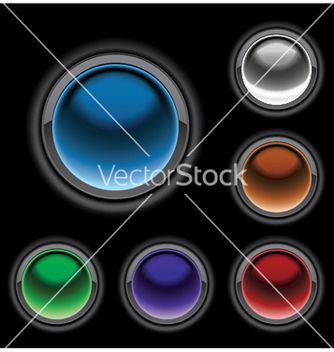 Free glossy buttons set vector - Free vector #250337