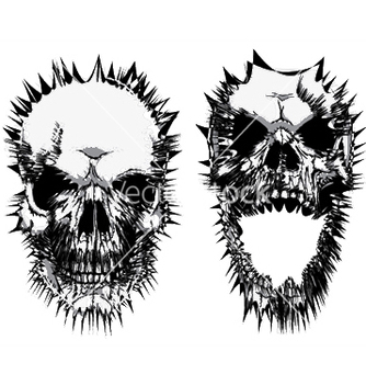 Free stylized skulls vector - Free vector #250487