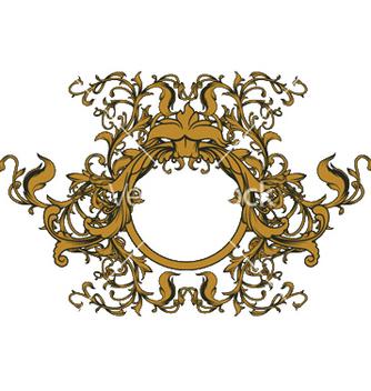 Free baroque floral ornament vector - Free vector #250587