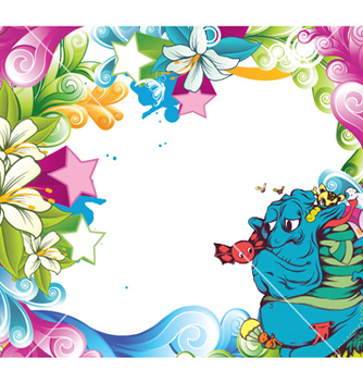 Free funny monsters background vector - Kostenloses vector #250707