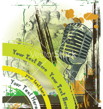 Free concert poster with microphone vector - Free vector #250937
