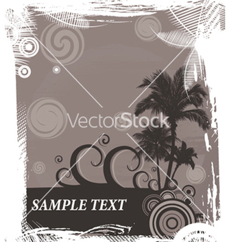 Free vintage summer background with palm trees vector - Kostenloses vector #251087