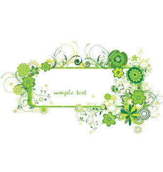 Free floral frame vector - Kostenloses vector #251377