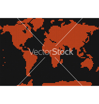 Free dotted earth map vector - vector #251427 gratis