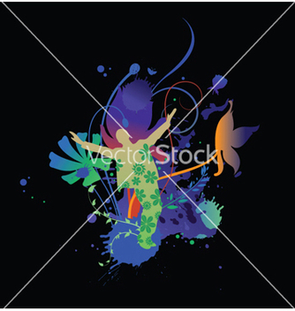 Free floral with splash vector - vector gratuit #251437