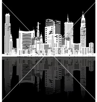 Free vintage city background vector - Free vector #251447
