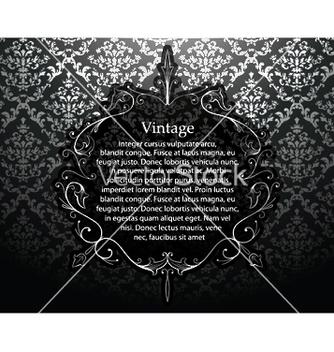 Free vintage silver floral frame vector - Kostenloses vector #251537