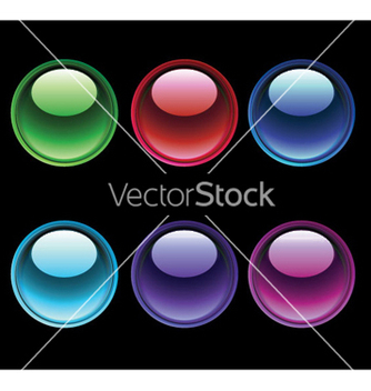 Free glossy buttons set vector - Free vector #251547