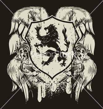 Free grunge tshirt design with shield vector - Kostenloses vector #251637