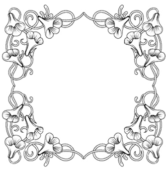 Free floral frame vector - Free vector #251817