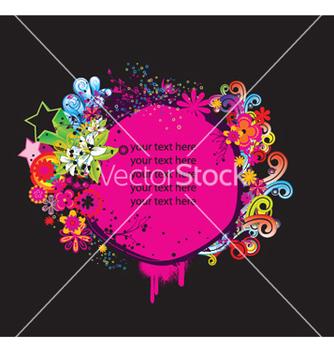 Free splash floral frame vector - бесплатный vector #251837
