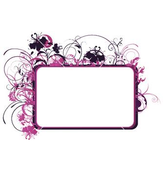 Free floral frame vector - Kostenloses vector #251847