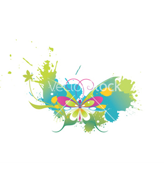 Free splash background with butterfly vector - Free vector #251877