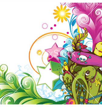 Free funny monsters background vector - Free vector #251907