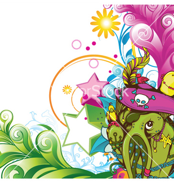 Free funny monsters background vector - Kostenloses vector #251907
