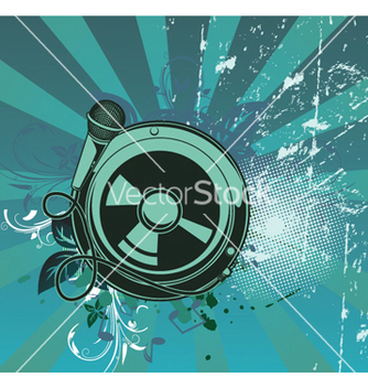 Free concert poster with speaker vector - Free vector #252047