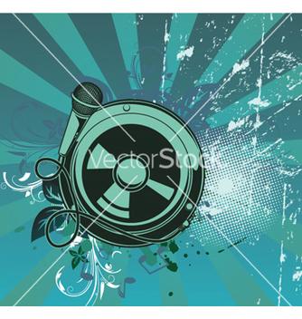 Free concert poster with speaker vector - Kostenloses vector #252047