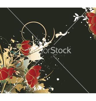Free vintage floral vector - Free vector #252717