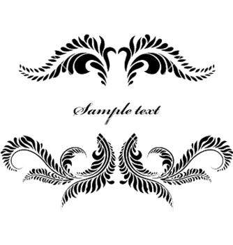 Free vintage floral frame vector - Free vector #252777