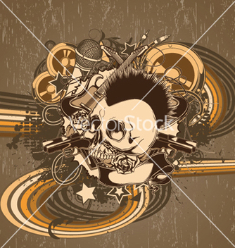 Free music background vector - vector gratuit #252807