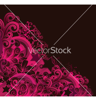 Free abstract floral background with stars vector - Free vector #252817