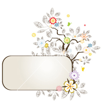 Free floral frame vector - Free vector #252847