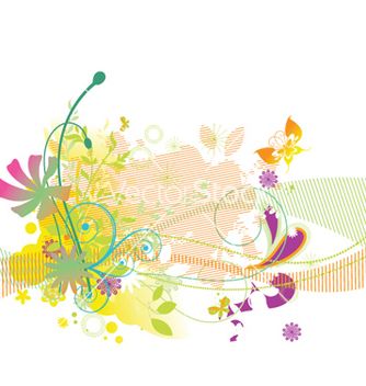 Free abstract floral background vector - Free vector #253057