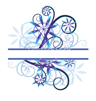 Free blue floral vector - Free vector #253487