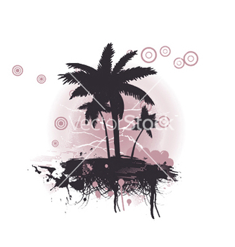 Free summer with palm trees vector - Free vector #253507