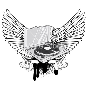 Free music emblem vector - Free vector #253567
