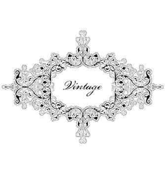 Free elegant floral frame vector - Free vector #253587