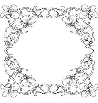 Free floral frame vector - Kostenloses vector #253957