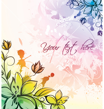 Free watercolor floral vector - vector gratuit #254017