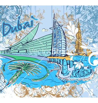 Free dubai doodles vector - бесплатный vector #254127