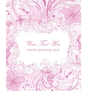 Free floral greeting card vector - Free vector #254167
