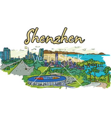 Free shenzhen doodles vector - Free vector #254237