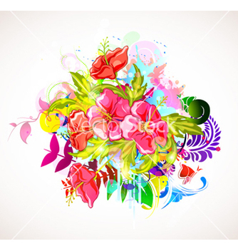 Free abstract colorful floral background vector - Free vector #254247